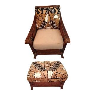 Vintage Padma Plantation Accent Chair & Ottoman
