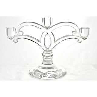 Glass Three Light Candle Holders - a Pair Preview