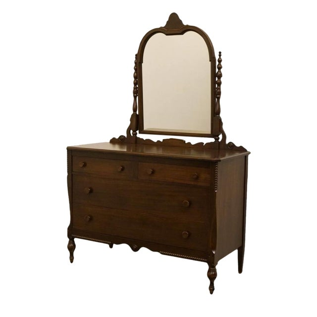 """1960s Traditional Sligh Furniture Co. Grand RapidsMahogany 48"""" Dresser With Mirror For Sale"""