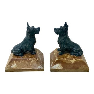 Vintage Kitschy Scottish Terrier Bookends - a Pair For Sale