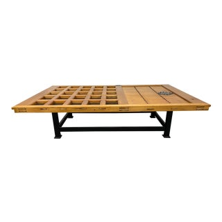 Early 20th Century Japanese Warehouse Door Coffee Table For Sale