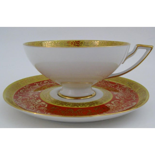Mid 20th Century Vintage Bavarian Tea Cup & Saucer For Sale - Image 5 of 6