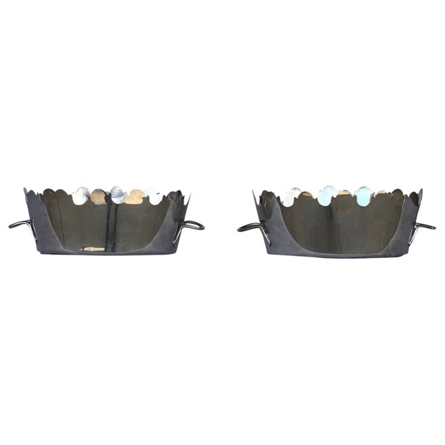 Silver Plate Monteith Baskets - a Pair For Sale