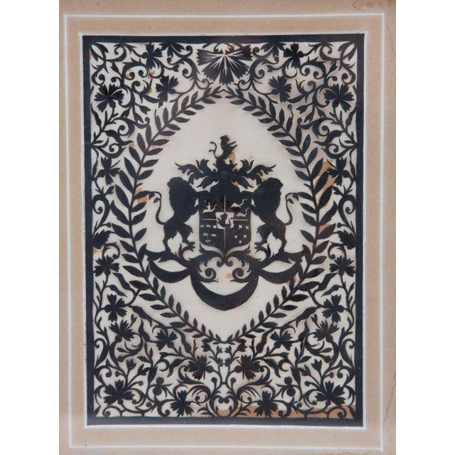 Traditional Framed Handcut Heraldic Shield Design For Sale - Image 3 of 7