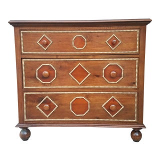Vintage Art Deco Wooden and Beaded Inlayed Commode
