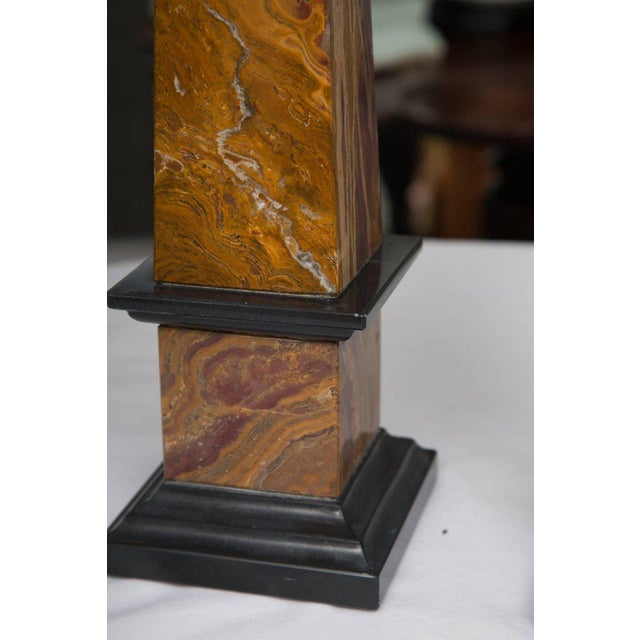 Pair of Marble Obelisks For Sale In West Palm - Image 6 of 7