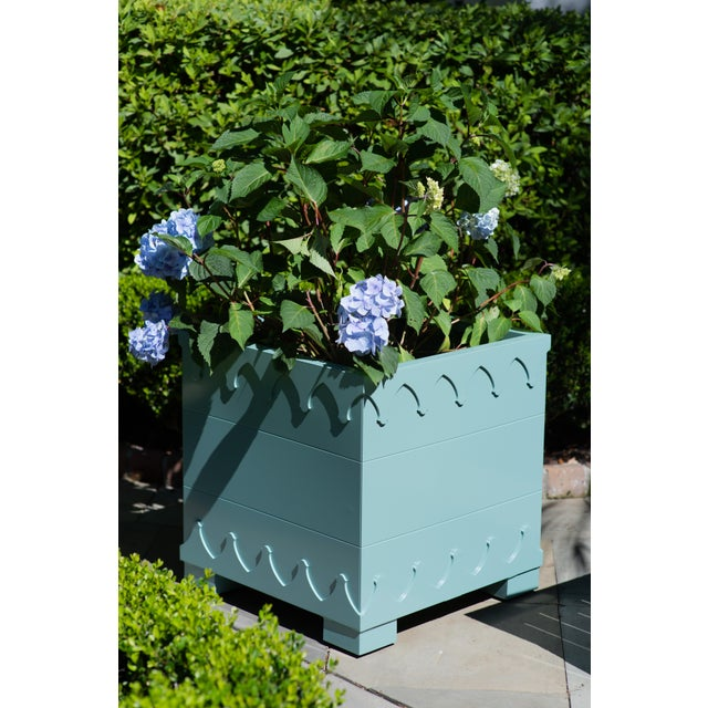 Oomph Oomph Ocean Drive Outdoor Planter Large, Blue For Sale - Image 4 of 6
