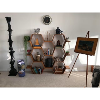 "Bentwood ""Honeycomb"" Shelving Unit Original Bill Curry Preview"