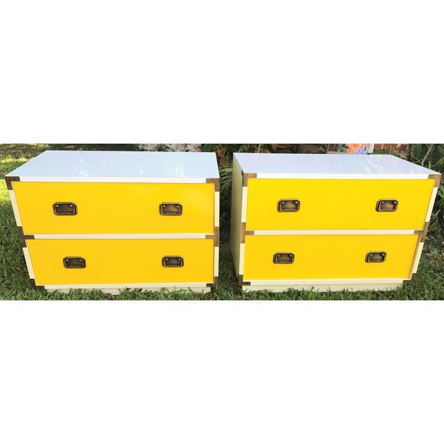Mid-Century Campaign Side Tables - A Pair - Image 2 of 10