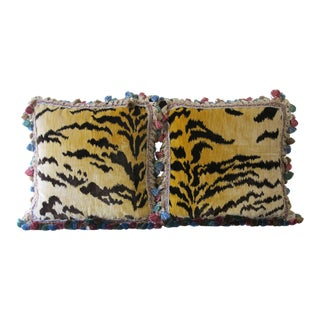 Bevilacqua Le Tigre Pillows - A Pair For Sale