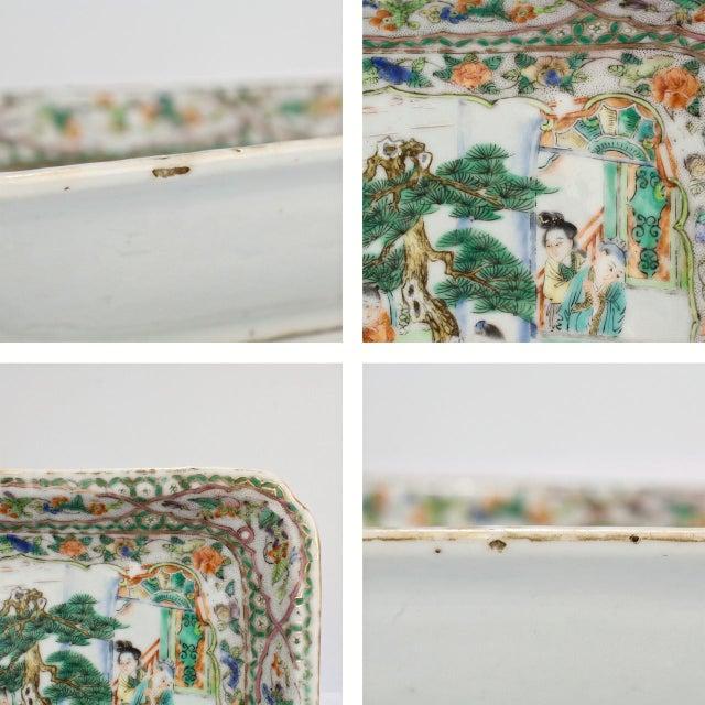Ceramic Antique Chinese Export Porcelain Famille Verte Bowl For Sale - Image 7 of 13