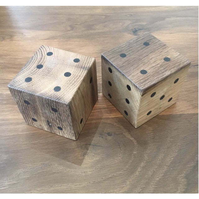 Benchmade by OZ|SHOP wood workers in Scottsdale, Arizona. Oversized dice sets made from antique French oaks with hand...