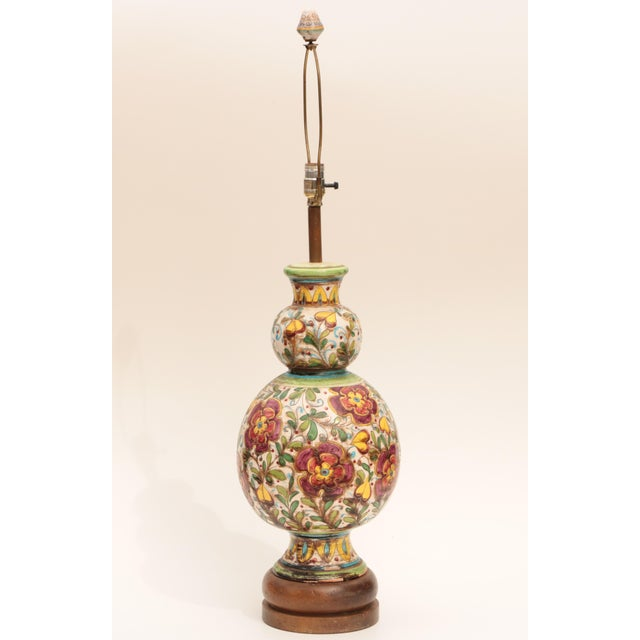 Monumental Italian Sgraffito Table Lamp - Image 2 of 7