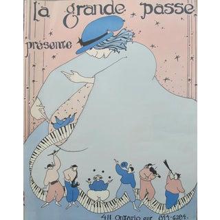 """1980s Montreal Contemporary Poster, Chatouille """"La Grande Passe"""""""