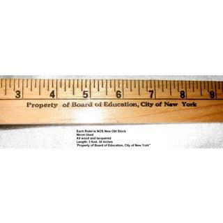 1950's Vintage Chalkboard Wood Ruler Preview