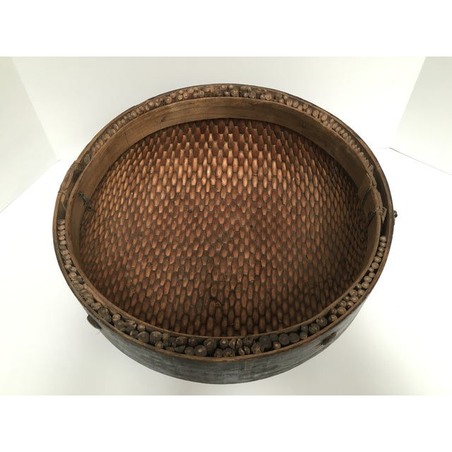 Hand Woven African Folk Art Basket - Image 7 of 10