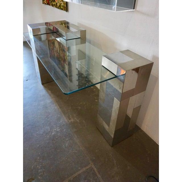 """Paul Evans Paul Evans """"Cityscape"""" Desk or Console For Sale - Image 4 of 8"""