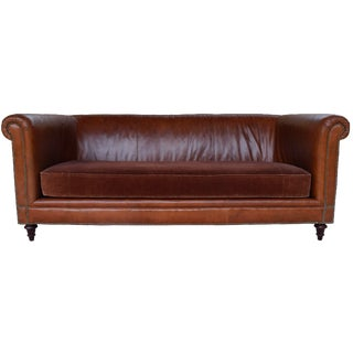 Lilian August Vintage Leather Sofa