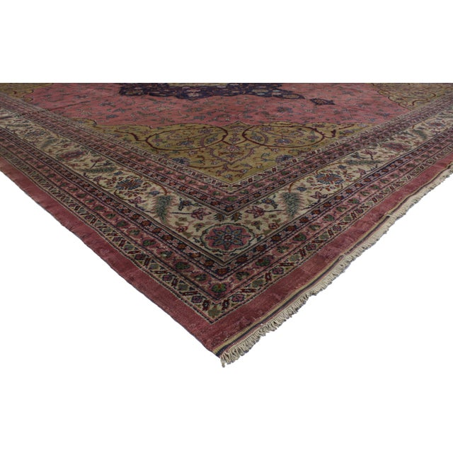 71617 Antique Turkish Sparta Rug with Art Nouveau Venetian Style 13'00 x 15'00. Rich in color and a striking appeal with...