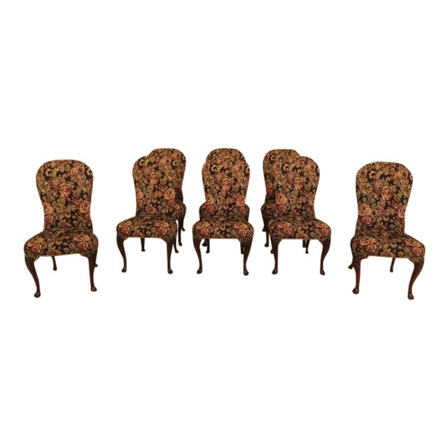 d85e701cc9672 Kindel Irish Georgian Balloon Back Dining Chairs - Set of 8 For Sale