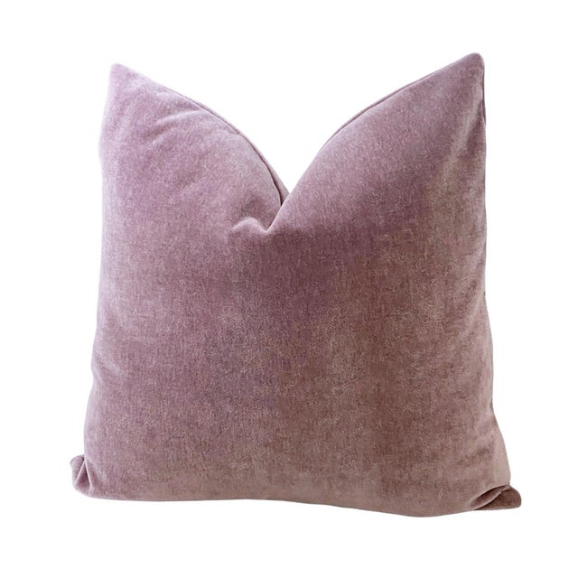 """Amethyst Mohair 18"""" Pillows - a Pair For Sale - Image 4 of 6"""