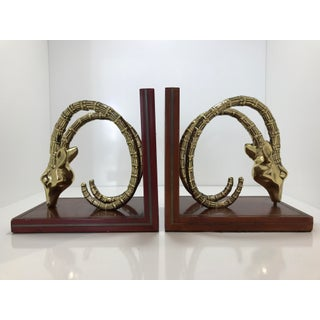 Vintage Ibex Bookends - A Pair Preview