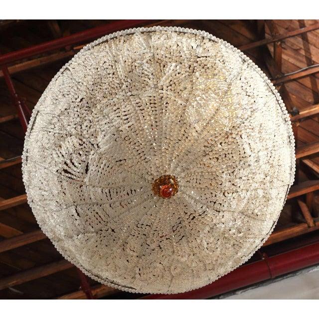 Art Deco Rene Lalique Style, Crystal Basket Chandelier For Sale - Image 4 of 12