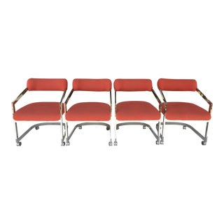 Dia Chairs on Casters - Set of 4