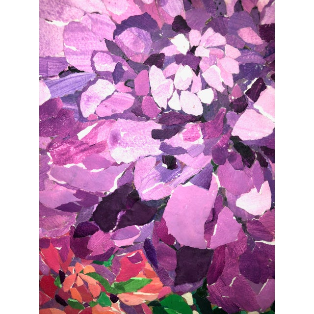 2010s Contemporary Purple Peony Collage For Sale - Image 5 of 6