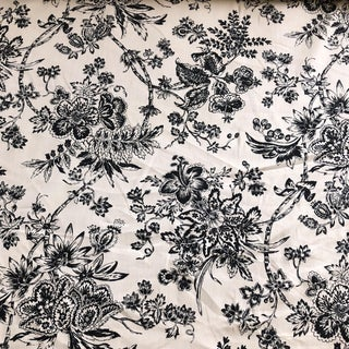 Tyler Hall Black and Oyster Linen Fabric - $25 Per Yards 25+Available For Sale