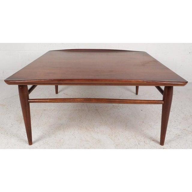 Mid Century Modern Square Walnut Coffee Table By Bassett Chairish