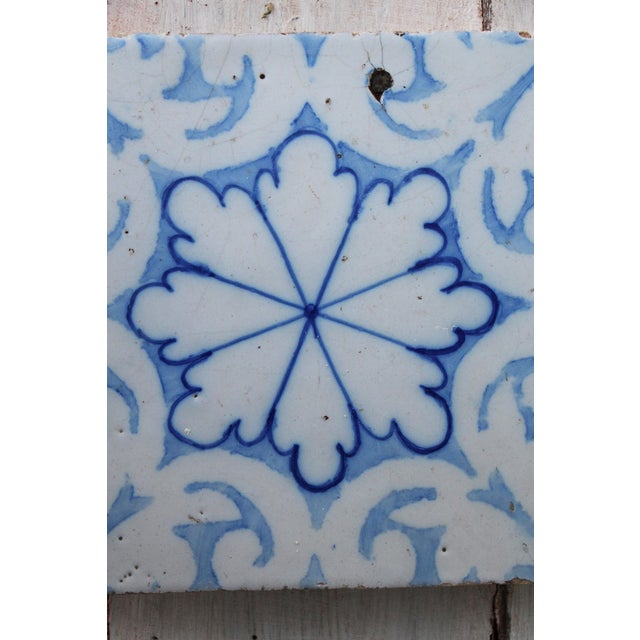 19th Century Portuguese Tin-Glazed Pottery Tile For Sale - Image 6 of 10
