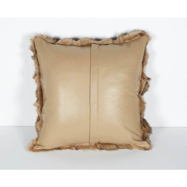 Luxury Fox Fur Throw Pillows in Taupe For Sale In New York - Image 6 of 6