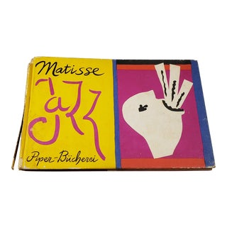 """Matisse Jazz"" Piper Bucherei Rare 1957 Collector's Lithograph Print Art Book For Sale"