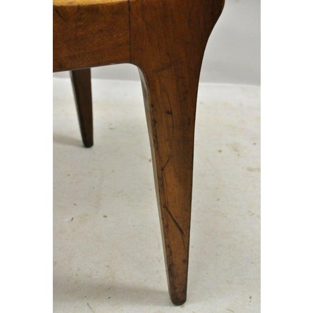 Drexel Dateline John Van Koert Walnut Mid Century Modern Dining Side Chair (A) For Sale - Image 9 of 12