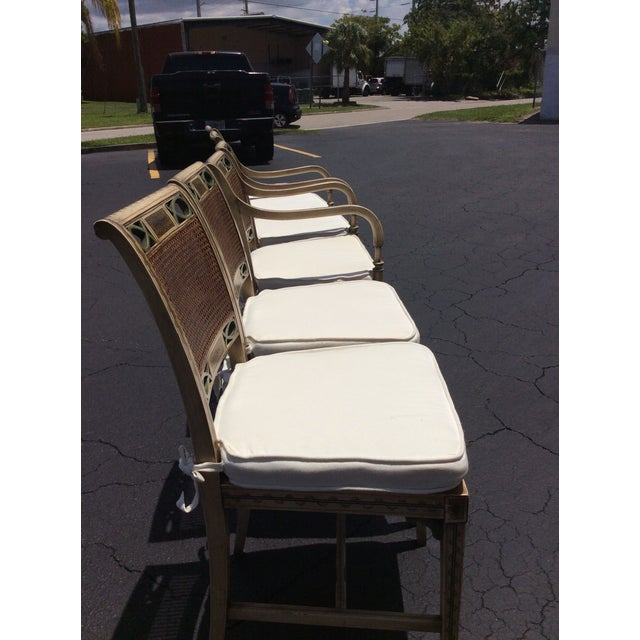 1920s French Country Wicker Dining Chairs - Set of 6 For Sale - Image 10 of 13