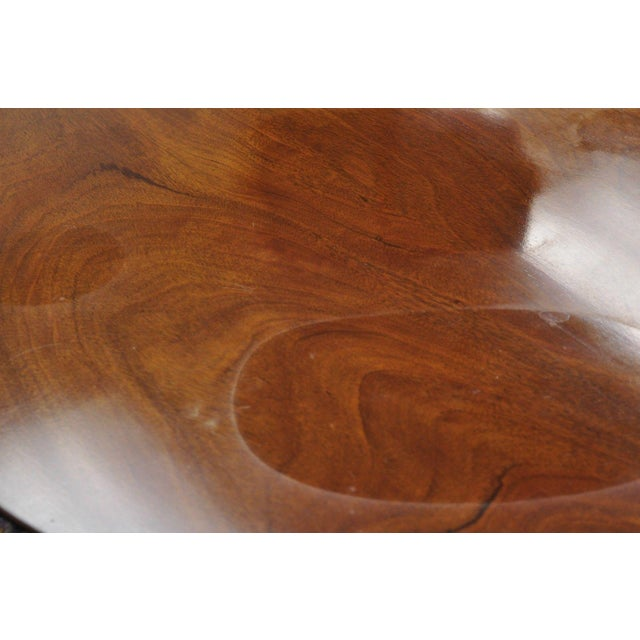 Chippendale Style Mahogany Pie Crust Tilt Top Tea Table with Ball and Claw Feet For Sale - Image 9 of 13