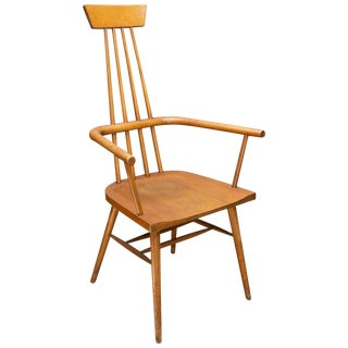 Paul McCobb Tobacco Stained Dr. No Windsor Chair Rustic Farmhouse Abstract Cabin For Sale