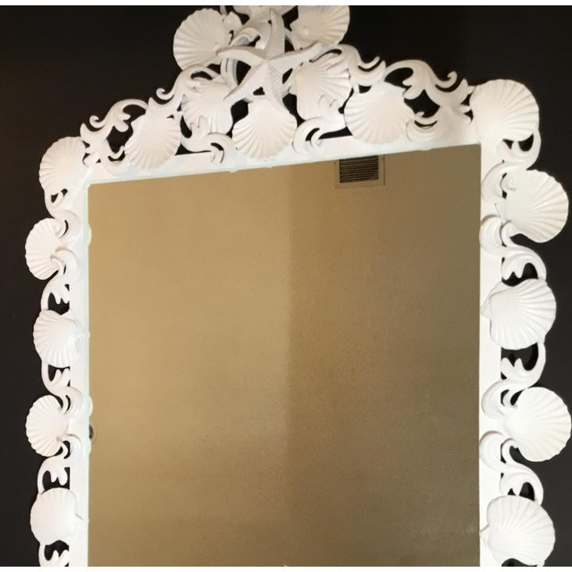 Organic Modern Iron Sea Shell Mirror For Sale - Image 10 of 13