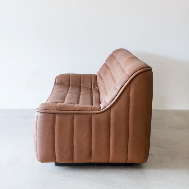 Mediterranean Original De Sede Model Ds84 Sofa in Cognac Buffalo Leather, 1970s For Sale - Image 3 of 9