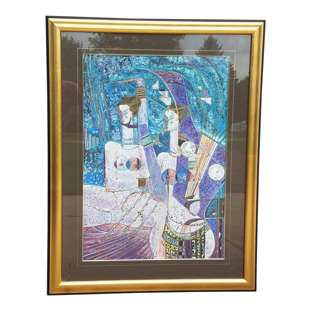 """""""Lot's Daughters"""" by Adrian Wong Shue Serigraph, 1988 For Sale"""