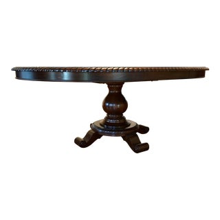 Lane Traditional Cherry Finish Expandable Dining Table With One Leaf For Sale