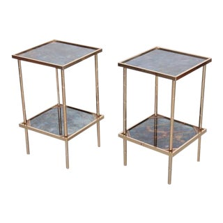Pair of Side Tables or Nightstands Attributed to Maison Baguès For Sale