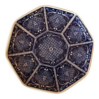 Vintage Italian Hand-Painted Ardalt Blue Plate For Sale