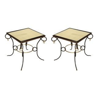 Iron and Gilt End Tables Attributed to René Prou - a Pair For Sale