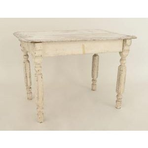 19th Century American Country Victorian Style Rectangular Antique White Painted Pine Dining Table Preview