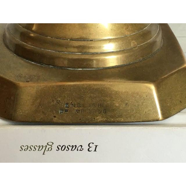 Antique Diamond Prince Brass Candlesticks - A Pair - Image 4 of 10