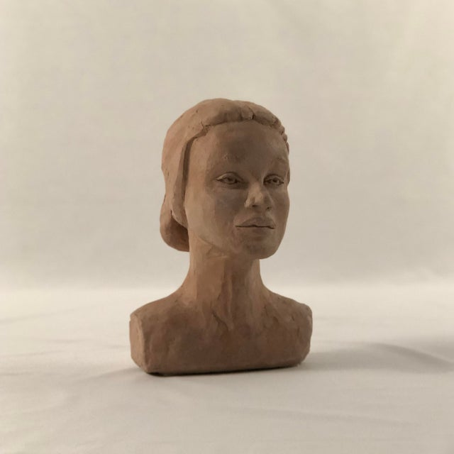 Clay Mid Century Clay Bust For Sale - Image 7 of 7