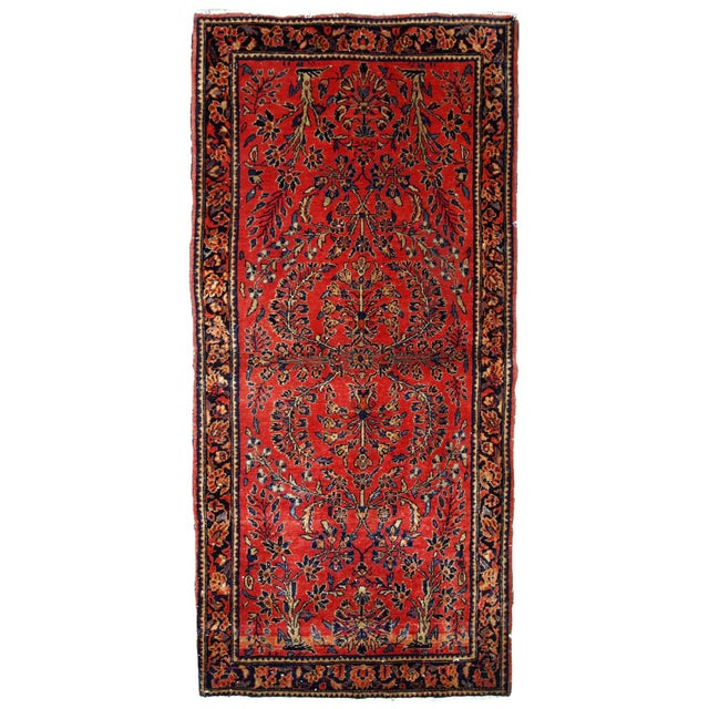 1900s, Handmade Antique Persian Sarouk Runner 3.2' X 7.10' For Sale - Image 12 of 12