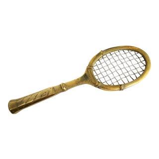 Brass Tennis Racket Paper Weight For Sale